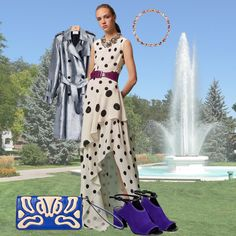 Polka dots, silver, and something blue are a girl's best friend.