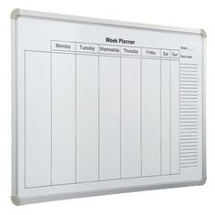 Delivery Time: Days Pre-printed week layout is non erasable and applied to magnetic dry wipe surface. Can be used with any drywipe marker or use magnetic tape and shapes to aid visual planning.