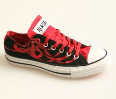 cool red & black Converse