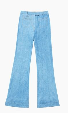 Slightly flared with front pockets and throwback sensibility, these high-waisted trousers give you legs for days and days.