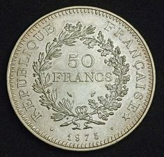 Coins of France Hercule 50 Francs Silver Coin