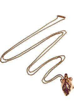 Solange Azagury Partridge Necklace 'Heart of Gold'.