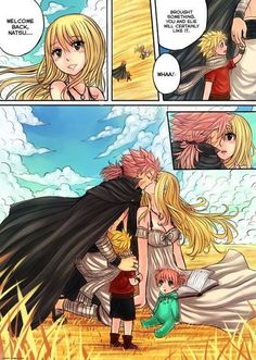 Fairy Tail Love, Fairy Tail Nalu, Fairy Tail Kids, Image Fairy Tail, Fairy Tail Family, Fairy Tail Natsu And Lucy, Fairy Tail Couples, Fairytail, Jerza