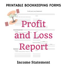 Profit And Loss Statement Template Free 76 Best Business Images On Pinterest  Accounting Business Tips And .
