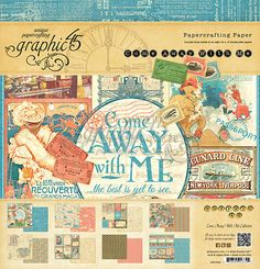 Graphic 45 - 12x12 Paper Pad - Come Away With Me