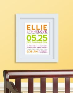 I just realized its never to late to do this! ##baby #stats #WALL #decor #art #custom