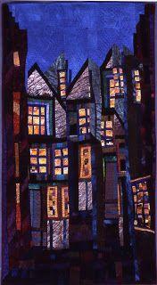 Elizabeth Barton - Idea of a City Series, Art Quilt