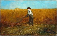 Winslow Homer (American, 1836–1910). The Veteran in a New Field, 1865.