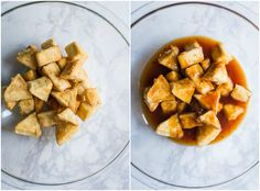 Sweet n' Sour Tofu- this SUPER easy to make dish is fully vegan, perfect for weeknight dinners, and goes create with a nice bowl of rice!
