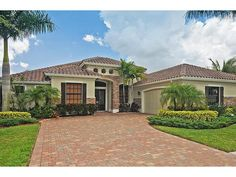 Naples Hot Properties - Florida house home - brick work - shutters.  Black Bear Ridge in Naples, FL