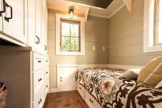 Bedroom and Cabinets - Boxcar by Timbercraft Tiny Homes
