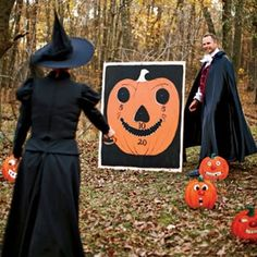Halloween toss game.  なげるゲーム。