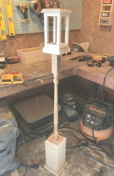 DIY Christmas Lantern Post 2019 Step by step tutorial to build your own DIY Christmas Lantern Post from scrap wood and old spindles. The post DIY Christmas Lantern Post 2019 appeared first on Woodworking ideas. Wood Projects For Beginners, Scrap Wood Projects, Easy Woodworking Projects, Wood Working For Beginners, Popular Woodworking, Diy Pallet Projects, Fine Woodworking, Woodworking Furniture, Craft Projects