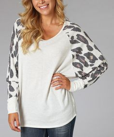 Ivory Animal Dolman Top