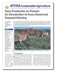 Dairy Production on Pasture: An Introduction to Grass-Based and Seasonal Dairying