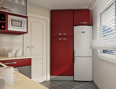 I think I can pull this off... I got the appliances in red, and I just discovered where I can have the red cabinets made