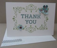Stampin Up Letterpress Thank you card
