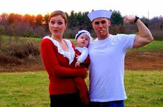 The Patriotic Peacock: A little late Halloween- Popeye, Olive Oyl and Swe...