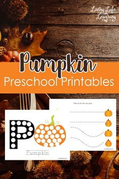 Get into the fall spirit with these Pumpkin Preschool Printables, my daughter loves the dot coloring pages.