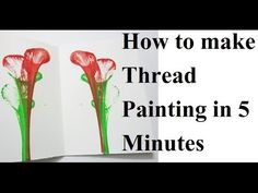 How to Make Thread Painting in 5 Minutes | थ्रेड पेंटिंग | DIY | Easy Pa...
