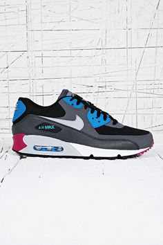 new style 9f083 5f348 Nike Air Max 90 Trainers in Grey and Blue.
