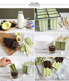 Chocolate Avocado Popsicles- The Little Epicurean Try it with coconut milk and coconut cream instead of dairy. Healthy Treats, Healthy Desserts, Yummy Treats, Delicious Desserts, Sweet Treats, Dessert Recipes, Yummy Food, Delicious Chocolate, Homemade Chocolate