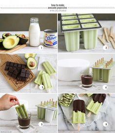Chocolate Avocado Popsicles- The Little Epicurean