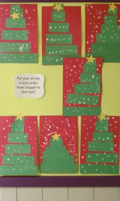 Incorporating math into Christmas tree art!