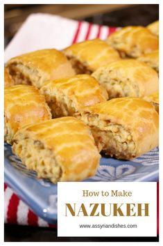 Learn How to Make Nazukeh with Assyrian Dishes! Learn To Cook, How To Make, Food Videos, Muffin, Dishes, Cooking, Breakfast, Desserts, Recipes
