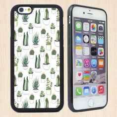 For Apple Iphone 6 4.7 Inch Iphone 6s Case with Cactus Cases Phone Rubber Cases