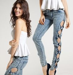 Bow jeans