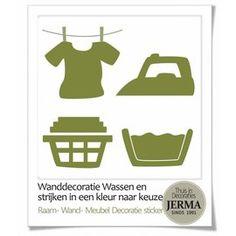 JERMA decoraties Wasgoed symbolen stickers set van 4 Home Decor, Interior Design, Home Interior Design, Home Decoration, Decoration Home, Interior Decorating