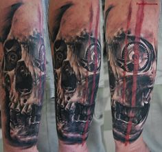 Artificial Skull - Biomechanical Tattoo