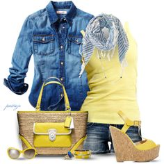 Daffodils and Denim, created by rockreborn on Polyvore