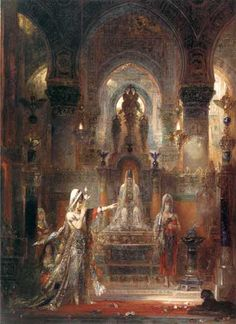 Salome dancing before Herod - Gustave Moreau       one of my favorites :)
