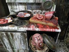 how to create a kitchen for a haunted house - Google Search ... Haunted Kitchen Ideas on dark kitchen ideas, spooky kitchen ideas, halloween kitchen ideas, fun kitchen ideas, hello kitty kitchen ideas, black kitchen ideas, happy kitchen ideas, fiesta kitchen ideas, pumpkin kitchen ideas, beautiful kitchen ideas, hero kitchen ideas, house kitchen ideas, travel kitchen ideas, witch kitchen ideas, gothic kitchen ideas, diva kitchen ideas, dollhouse kitchen ideas, scary kitchen ideas, funny kitchen ideas, harvest kitchen ideas,