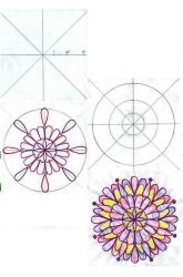 Draw a mandala (rotational symmetry)