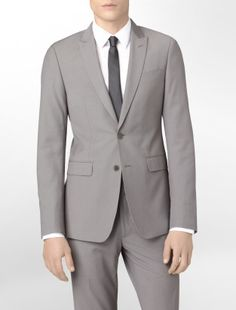 Matching Pants, for GQ suit jacket. Slim fit suit. gray grey http
