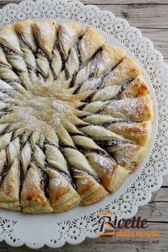 sun of Nutella pastry Pastry Recipes, Dessert Recipes, Cooking Recipes, Italian Desserts, Italian Recipes, Nutella Cake, Pecan Cake, Sweet Cakes, Quick Easy Meals