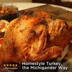 This 5-star turkey is covered with a mixture of dried onion, dried parsley, and salt dissolved in chicken broth. Repin for your feast. (Homestyle Turkey, the Michigander Way) http://allrecipes.com/recipe/Homestyle-Turkey-the-Michigander-Way-2/Detail.aspx?lnkid=7171