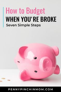 When youre broke and money is tight you can still budget your money. However the truth might actually be that you are broke because you dont know how to budget. Here are seven simple steps for budgeting. Save My Money, Ways To Save Money, Money Saving Tips, Making A Budget, Create A Budget, Finance Blog, Finance Tips, Money Problems, Manifesting Money