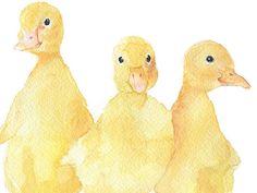 Drei Entenküken Aquarell Malerei 7 x 5 von SusanWindsor auf Etsy
