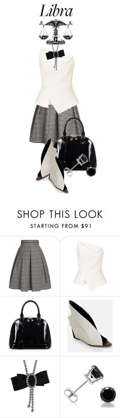 """""""Libra....."""" by queenrachietemplateaddict ❤ liked on Polyvore featuring Rumour London, Roland Mouret, Relaxfeel, Abcense, Lanvin, Amanda Rose Collection, skirt, blackandwhite, zodiac and libra"""