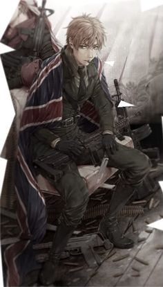 Hetalia (ヘタリア) - England / The United Kingdom (イギリス). Artist unknown. If you are the artist or know the artist please let me know so I can credit properly or take this art down from my board if you wish.