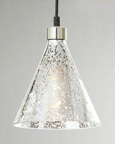 "Love the different shapes!  ""Mercury-Glass"" Beaker Pendant by Regina-Andrew Design at Neiman Marcus."