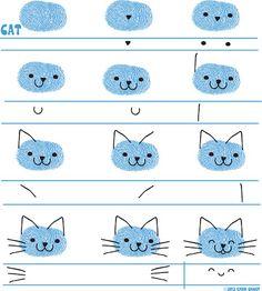 Dibujo Gato página de Ed Emberley