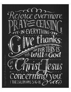 Rejoice Evermore - Chalkboard Art Print Bible Verse - 8x10. $25.00, via Etsy