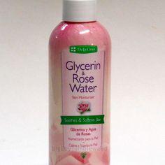 De La Cruz Glycerin & Rose fragrance Water Skin Moisturizer 8 oz bottle body