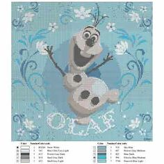 Olaf Knitting Pattern Chart : Olaf Letter Chart Search Results Calendar 2015