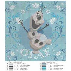 Disney Frozen Olaf - Cross Stitch Pattern - 6 Page - 10 Symbols/Colours Chart